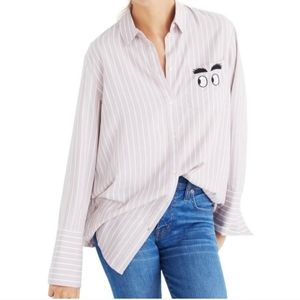 Madewell side eye button down sz small